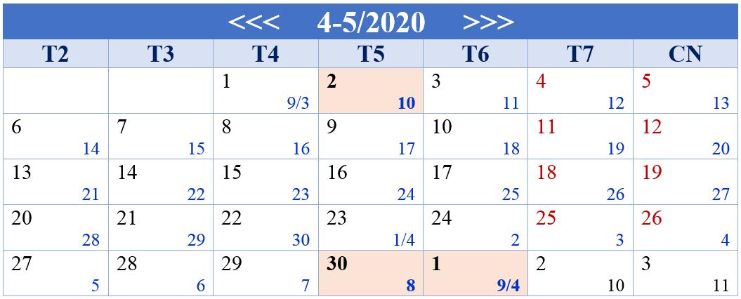 THÔNG BÁO NGHỈ LỄ GIỖ TỔ HÙNG VƯƠNG, LỄ 30/4 & 1/5