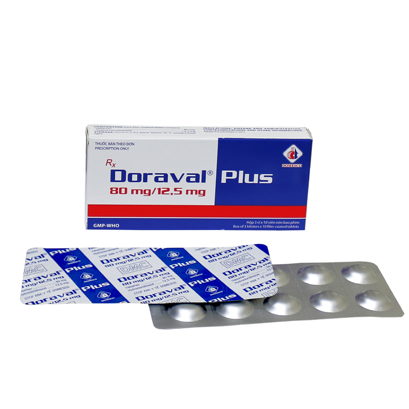 DORAVAL PLUS 80MG/ 12,5MG