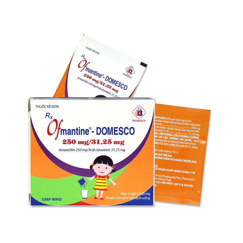 OFMANTINE – DOMESCO 250MG/31,25MG