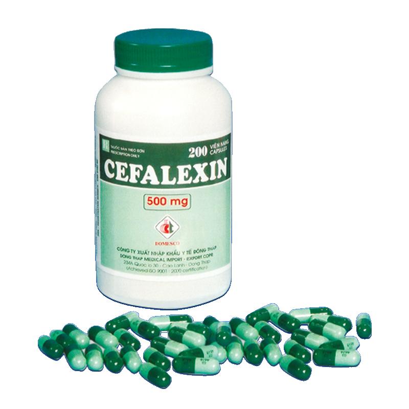 Cefalexin 500mg (xanh đậm - xanh nhạt)